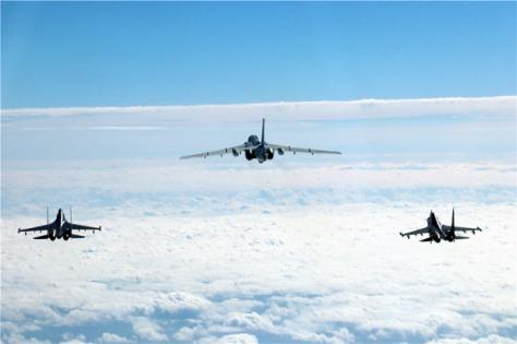 Angkatan Udara China menggelar latihan di Laut China Selatan dan Pasifik Barat. Istimewa