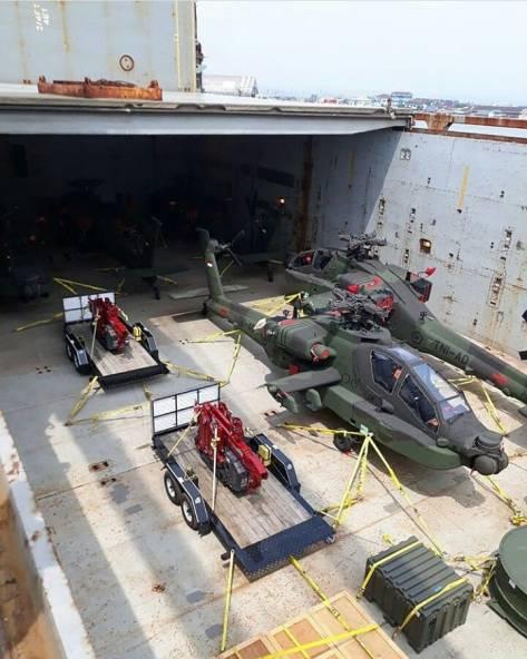 AH-64E Apache Guardian tiba di Tanjung Mas (20-04)