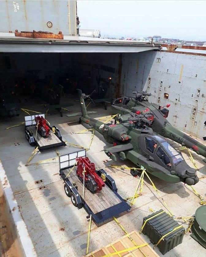 Lima Unit AH-64E Apache Guardian Tiba di Semarang