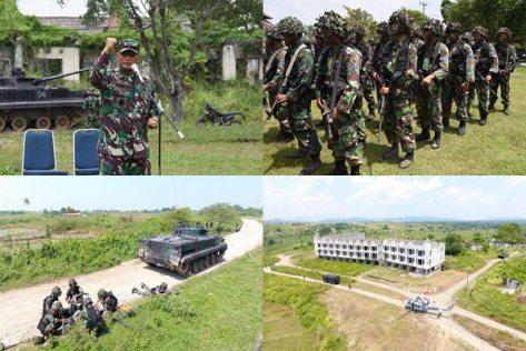 Dankormar Tinjau Langsung Operasi Pertempuran Kota Marinir