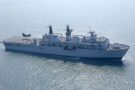 HMS Albion is pictured operating with Dutch Royal Marines (Wiki)