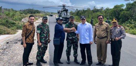 Ketua DPD RI, Oesman Sapta (OSO), melakukan kunjungan kerja bersama Ketua DPR RI, Bambang Soesatyo, dan Panglima TNI Marsekal TNI Hadi Tjahjanto, ke perairan Natuna, Kepulauan Riau (Seni