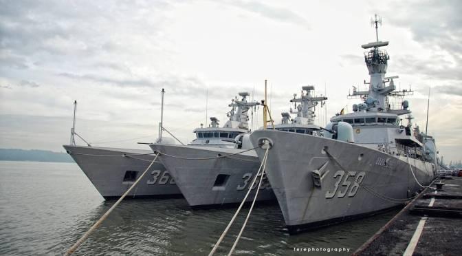 Tiga Unit MRLF dan Satu Unit Corvette TNI AL Pindah Tugas Ke Koarmabar