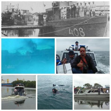 Lanal Cirebon Temukan Bangkai Kapal RI Gajahmada