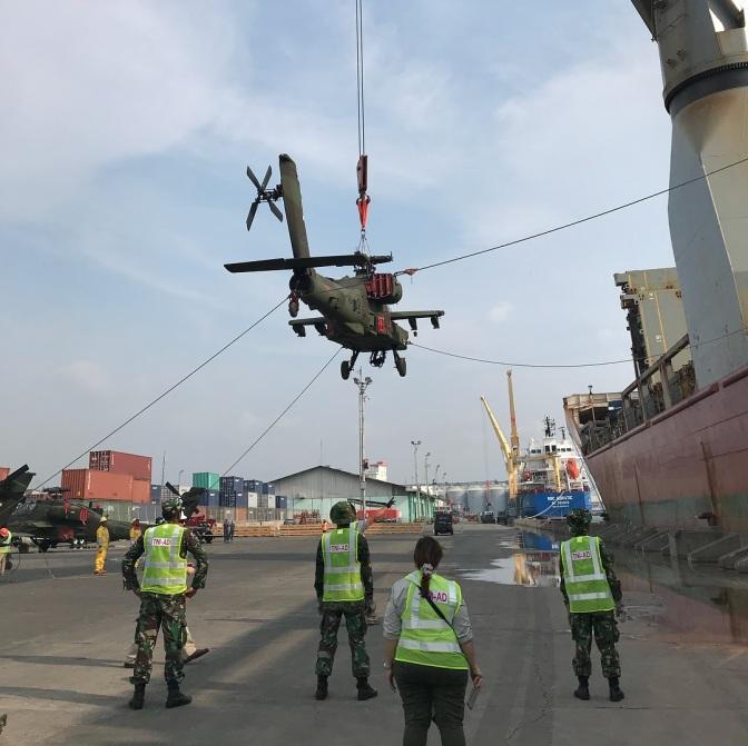 AH-64E TNI AD Dirakit di Pelabuhan dan Langsung Diterbangkan ke Home Base (Photo & Video)