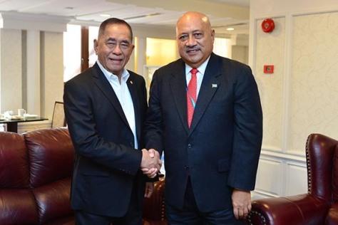 Menhan RI – Menhan Fiji Lakukan Pertemuan Sebelum Acara Forum Putra Jaya Ke-5