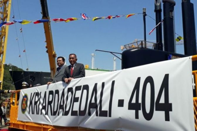 KRI Ardadedali-404 TNI AL Diberangkatkan dari Korea Selatan
