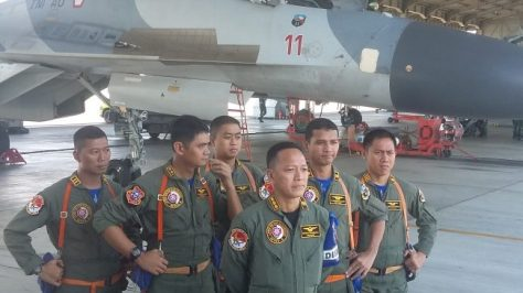 Sukhoi 27 30 MK saat menjalani latihan sriti gesit 2018 di Lanud Sultan Hasanuddin (djournalist) 1
