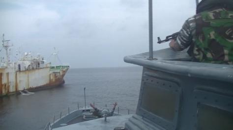 TNI AL Tangkap Kapal Ikan Asing Buruan Interpol