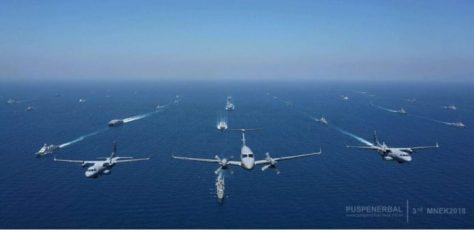 35 Kapal Perang Ikuti Latihan Bersama Fase Laut dalam MNEK 2018