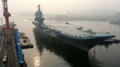 Kapal Induk Kedua China (13052018) (AP)