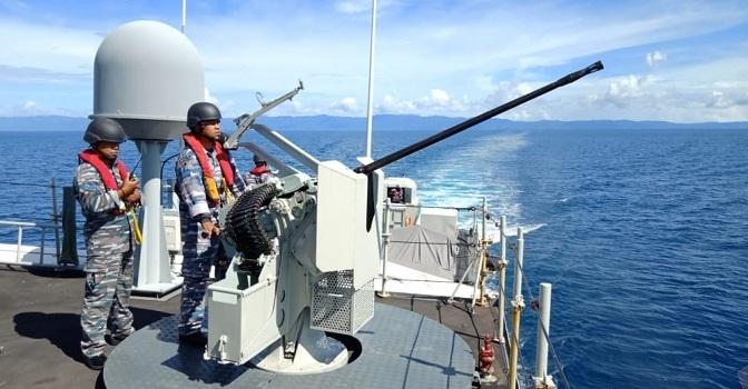PPRC 2018, KRI Hiu-634 Laksanakan Operasi Penyekatan di Perairan Morotai