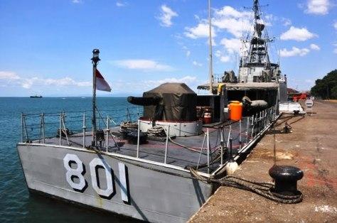 KRI Pandrong-801 kapal jenis patroli produksi PT PAL. (Dispenal)