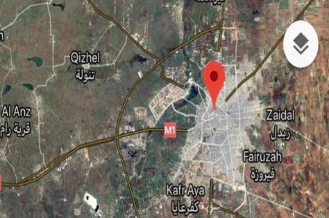 Lokasi bandara militer Dabaa, dekat Homs, Suriah, yang jadi lokasi serangan rudal. Israel yang dicurigai sebagai pelaku serangan memilih bungkam. Twitter @sfrantzman