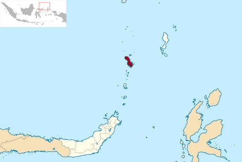 Lokasi Sulawesi Utara Kabupaten Kepulauan Sangihe. (Wiki)