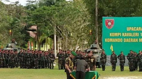 Pangdam VI Mlw Mayjen TNI Subiyanto resmikan Satuan Kompi Kavaleri-13 Macan Tutul Cakti di Jalan Soekarno Hatta Km 28, Kabupaten Kutai Kartanegara pada Selasa, (1505). (Tribun Kaltim)