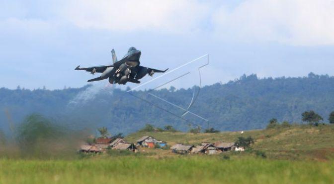 F-16 TNI AU Akhiri Latihan PPRC 2018