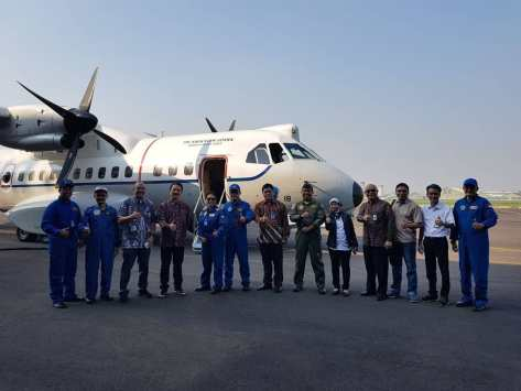 PTDI serah terima pesawat CN-235