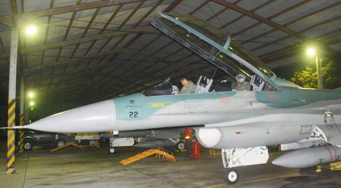 T-50i dan F-16 TNI AU Latihan Tempur Malam Hari