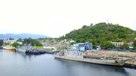 Tiga KRI sedang bersandar di Dermaga Lanal Sabang. (Istimewa)