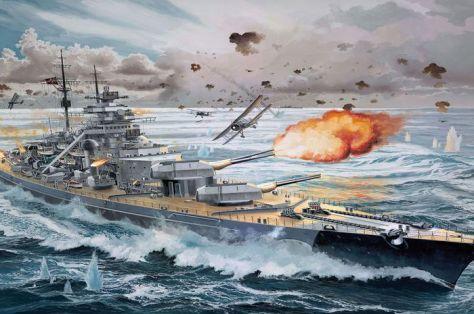 Kapal perang Nazi Bismarck (Yoyok Prima Maulana)