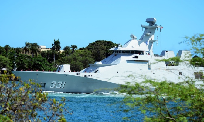 Dua Kapal Perang Indonesia Masuki Pearl Harbor dalam Persiapan RIMPAC 2018