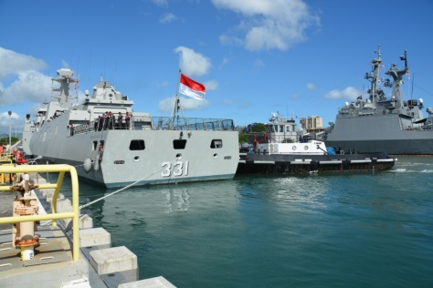 KRI Martadinata (331) pulls peirside at JBPHH in preparation for RIMPAC 2018 (defence.pk)