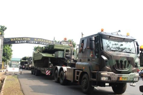 Leopard 2 RI Bergeser Dari Yonkav 1 Kostrad Ke Yon Mandala Yudha Kostrad