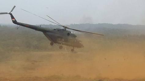Mi-17 TNI AD dalam Lattis Ancab 2017 (Kostrad)
