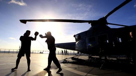 Prajurit TNI-AL yang tergabung dalam Satgas Rim Of The Pacific (Rimpac) 2018 (Antara)