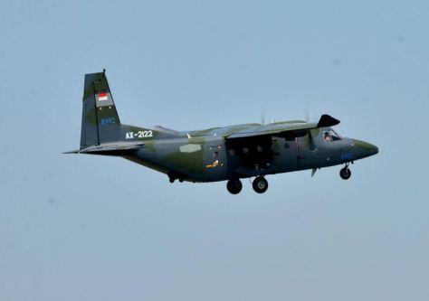 PTDI melakukan ferry flight 2 (dua) unit pesawat terbang NC212i untuk Angkatan Udara Filipina (8 6). (PT DI)
