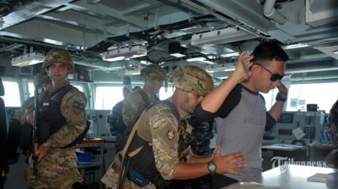 Satgas MTF TNI AL Berikan Latihan Boarding Kepada Tim VBSS LAF Navy 2