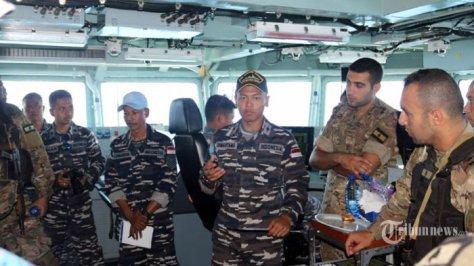Satgas MTF TNI AL Berikan Latihan Boarding Kepada Tim VBSS LAF Navy 3