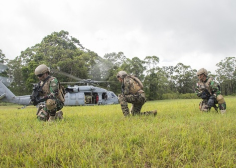 Special operations forces from Indonesia and the Philippines participate