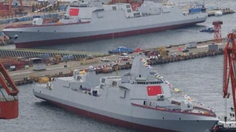 China Luncurkan Dua Destroyer Tipe 055 Secara Bersamaan di Dalian (xcar.com.cn)