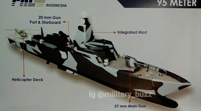 Desain Offshore Patrol Vessel (OPV) PT PAL (Photo)