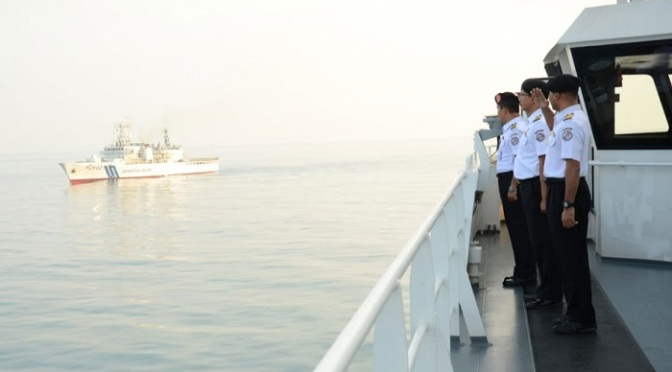 KN. Tanjung Datu – 1101 Sambut Kapal Coast Guard Jepang