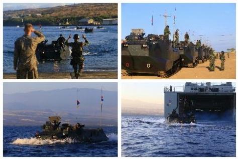 Korps Marinir TNI AL yang tergabung dalam Satuan Tugas (Satgas) Rim Of The Pacific (Rimpac) 2018, Minggu 22 Juli 2018 melaksanakan reembarkasi. (TNI AL) 1
