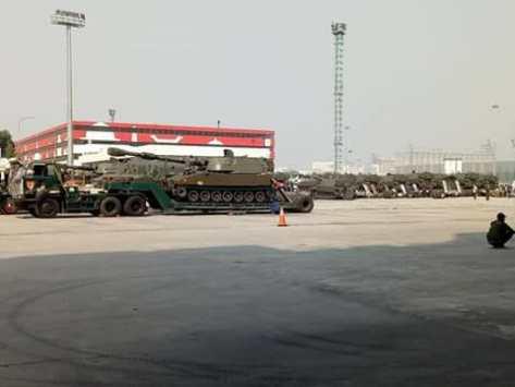 M109 tiba di Tanjung Priok 9 Juli 2018