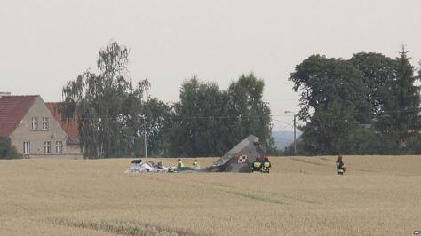 MiG-29 AU Polandia jatuh (AP)