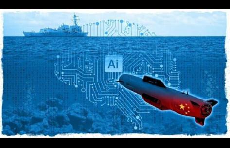 Pemerintah Cina membangun armada kapal selam nirawak dengan teknologi kecerdasan buatan atau artificial intelligence. (SCMP)