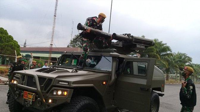 Demonstrasi Alutsista Terbaru Den Arhanud Rudal 004/ Dumai