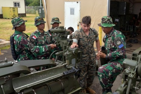 Prajurit Artileri Korps Marinir TNI AL Latihan Bersama Prajurit Artileri USMC Di Hawaii