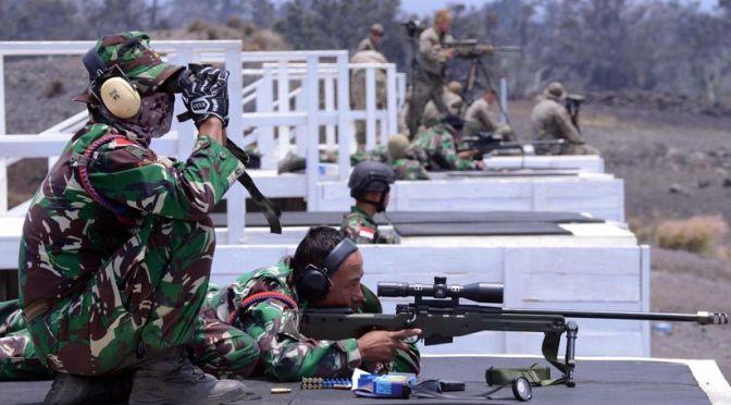Korps Marinir Indonesia Laksanakan Menembak Sniper di Hawaii