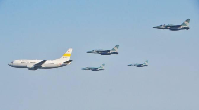 T-50i TNI AU Kawal Boeing Pembawa Api Asian Games 2018