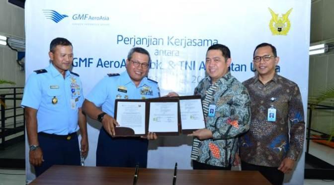 TNI AU dan PT GMF Aero Asia Jalin Kerja Sama Perawatan Engine