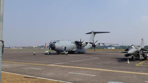 A400M dan Rafale di Lanud AU Halim Perdanakusuma (2108) (Liputan6.com)