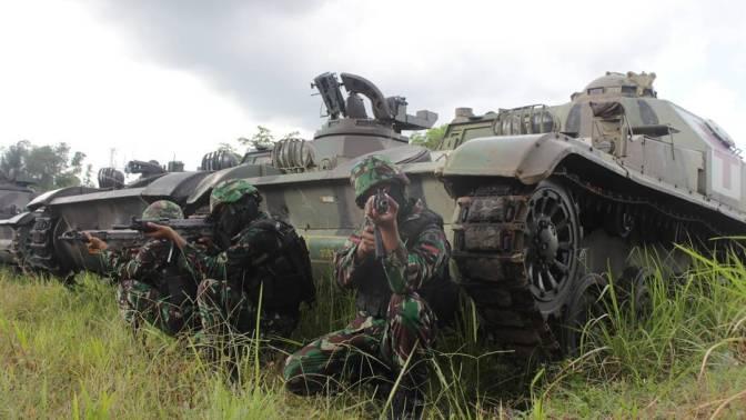 Batalyon Kavaleri 13/Satya Lembuswana Diperkuat 25 Unit Tank AMX-13