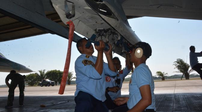 Delapan Pesawat Tempur Lanud IWJ Serang AWR Ponorogo
