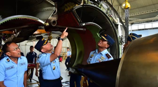 Depohar 10 Lakukan Pemeliharaan Tingkat Berat Terhadap Pesawat B-737